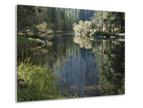 Autumn View Along the Merced River-Marc Moritsch-Metal Print
