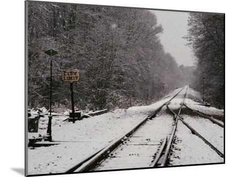 Railroad Tracks in Snow at the Courtland City Limit-Medford Taylor-Mounted Photographic Print