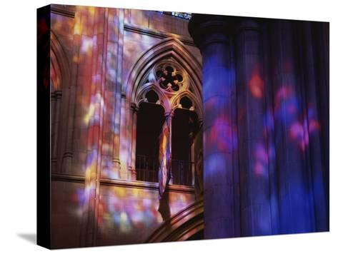 Rich Colors Projected from Stained Glass Windows onto Walls-Stephen St^ John-Stretched Canvas Print