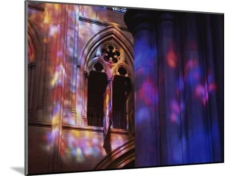 Rich Colors Projected from Stained Glass Windows onto Walls-Stephen St^ John-Mounted Photographic Print