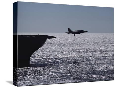 U.S.S. Coral Sea Aircraft Carrier, Flight Operations-Medford Taylor-Stretched Canvas Print