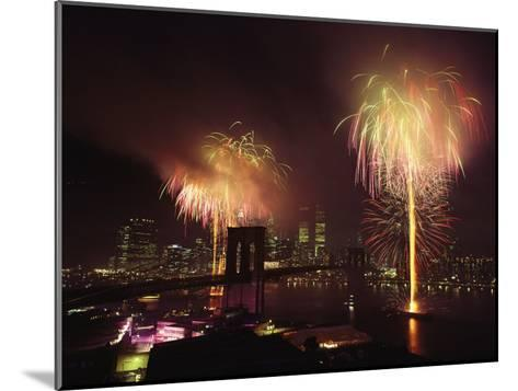 Fireworks in New York Harbor, July 4th-Medford Taylor-Mounted Photographic Print