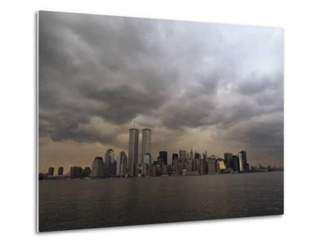 Storm Clouds over Lower Manhattan from the New Jersey Shore-Medford Taylor-Metal Print