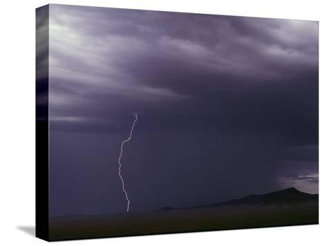 Lightning Bolt During a Storm in an Arizona Desert-Medford Taylor-Stretched Canvas Print