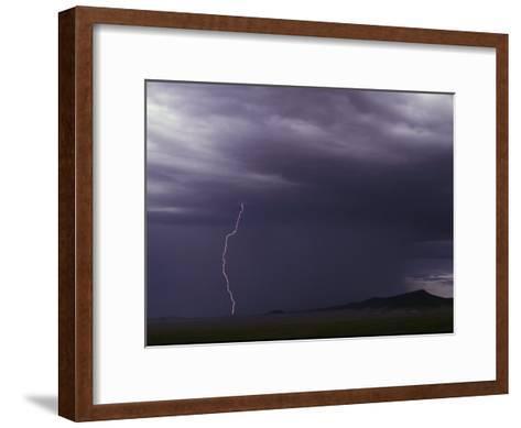 Lightning Bolt During a Storm in an Arizona Desert-Medford Taylor-Framed Art Print