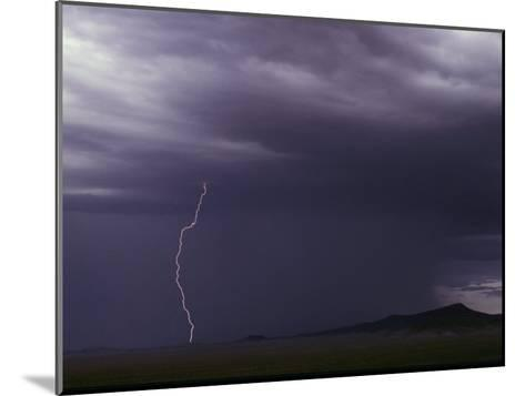 Lightning Bolt During a Storm in an Arizona Desert-Medford Taylor-Mounted Photographic Print