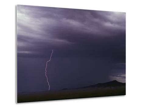 Lightning Bolt During a Storm in an Arizona Desert-Medford Taylor-Metal Print