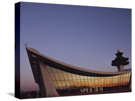 A Twilight View of Dulles International Airport Near Washington, D.C.-Medford Taylor-Stretched Canvas Print