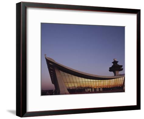A Twilight View of Dulles International Airport Near Washington, D.C.-Medford Taylor-Framed Art Print