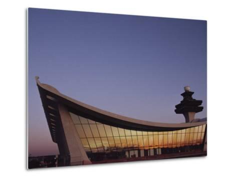 A Twilight View of Dulles International Airport Near Washington, D.C.-Medford Taylor-Metal Print