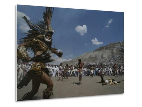 Traditional Dancing at the Pyramid of the Sun on the Spring Equinox-Kenneth Garrett-Metal Print
