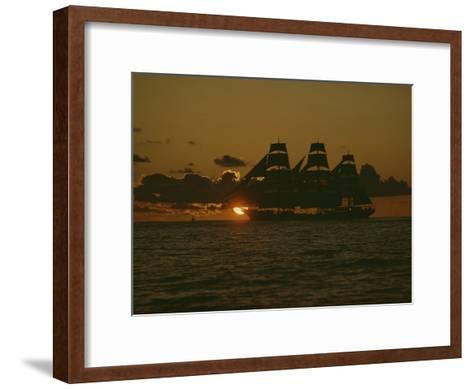 The Square-Rigger Dar Pomorza, Which Sailed from Gdynia, Poland to Newport Harbor-Kenneth Garrett-Framed Art Print