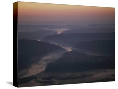 Aerial over Maryland, Virginia and West Virginia at Harpers Ferry-Kenneth Garrett-Stretched Canvas Print