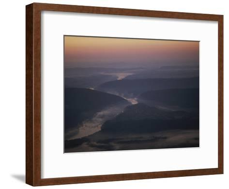 Aerial over Maryland, Virginia and West Virginia at Harpers Ferry-Kenneth Garrett-Framed Art Print