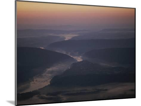 Aerial over Maryland, Virginia and West Virginia at Harpers Ferry-Kenneth Garrett-Mounted Photographic Print