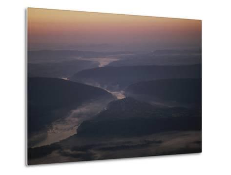 Aerial over Maryland, Virginia and West Virginia at Harpers Ferry-Kenneth Garrett-Metal Print