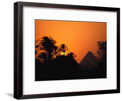 The Step Pyramid of Djoser Silhouetted by the Setting Sun-Kenneth Garrett-Framed Art Print