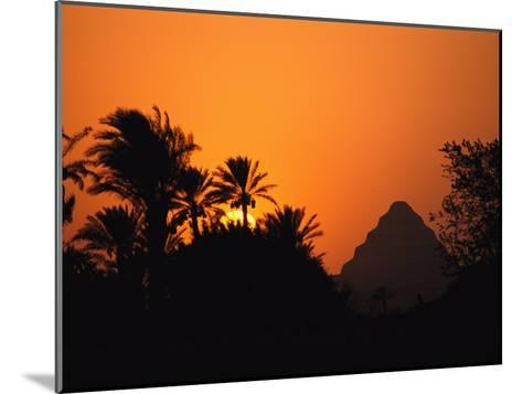 The Step Pyramid of Djoser Silhouetted by the Setting Sun-Kenneth Garrett-Mounted Photographic Print