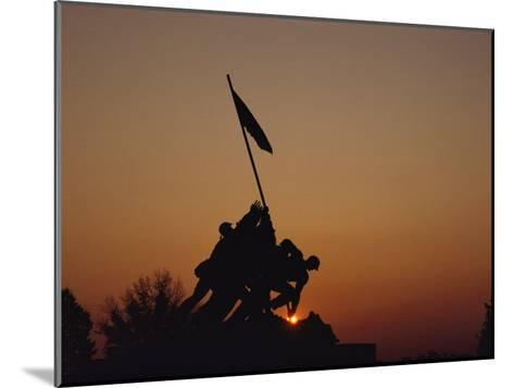 Silhouette of the Iwo Jima Monument at Twilight-Kenneth Garrett-Mounted Photographic Print