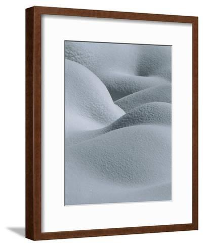 Soft, Gentle Rolling Snow Pillows-Tom Murphy-Framed Art Print