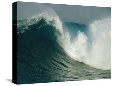 A Powerful Wave, or Jaws, off the North Shore of Maui Island-Patrick McFeeley-Stretched Canvas Print