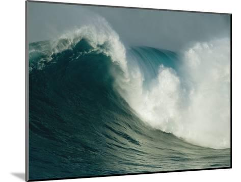 A Powerful Wave, or Jaws, off the North Shore of Maui Island-Patrick McFeeley-Mounted Photographic Print