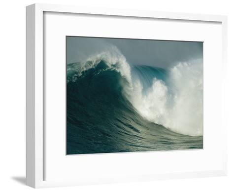 A Powerful Wave, or Jaws, off the North Shore of Maui Island-Patrick McFeeley-Framed Art Print
