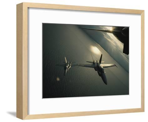 FA-18 Navy Jets in Flight over the Chesapeake Bay-Robert Madden-Framed Art Print