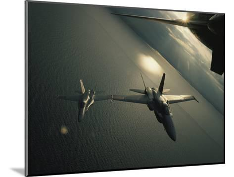 FA-18 Navy Jets in Flight over the Chesapeake Bay-Robert Madden-Mounted Photographic Print