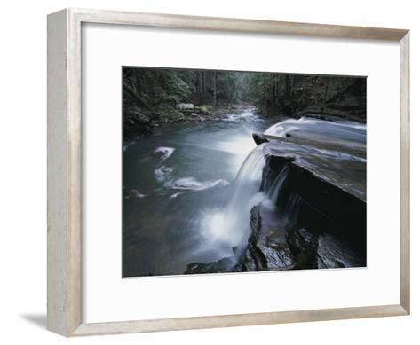 A Waterfall on Big Fiery Gizzard Creek Swirls into a Pool-Stephen Alvarez-Framed Art Print