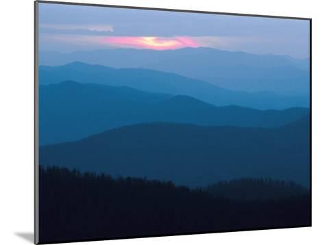 Twilight Covers the Ridges of the Blue Ridge Mountains-Raymond Gehman-Mounted Photographic Print