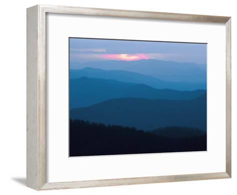 Twilight Covers the Ridges of the Blue Ridge Mountains-Raymond Gehman-Framed Art Print