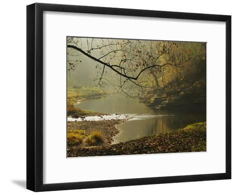 Creek Runs Through Blue Hole Campground-Raymond Gehman-Framed Art Print