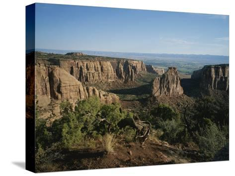 A Morning View of Colorado National Monument in Southwestern Colorado-Taylor S^ Kennedy-Stretched Canvas Print