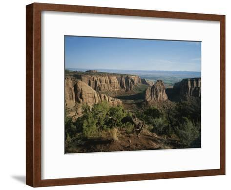 A Morning View of Colorado National Monument in Southwestern Colorado-Taylor S^ Kennedy-Framed Art Print