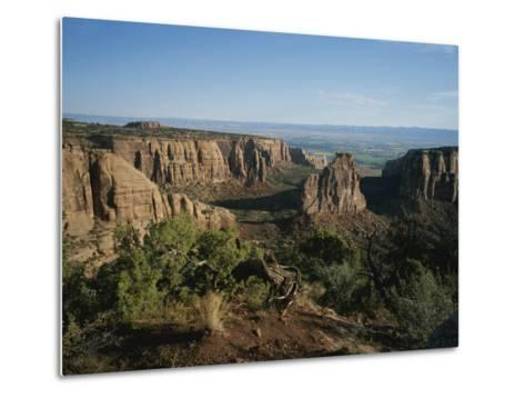 A Morning View of Colorado National Monument in Southwestern Colorado-Taylor S^ Kennedy-Metal Print