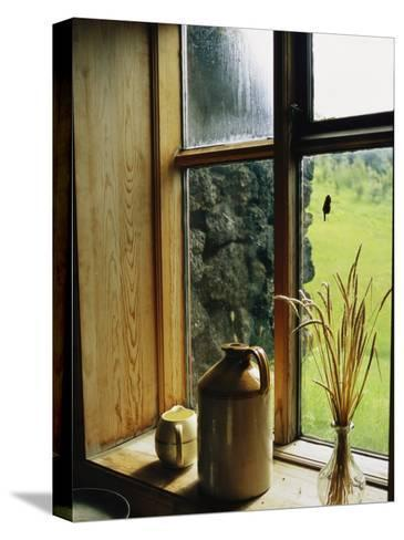 Windowsill of the Skogar Folk Museum in the Southern Part of Iceland-Sisse Brimberg-Stretched Canvas Print