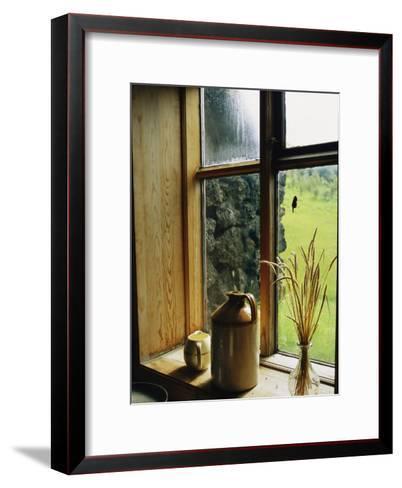 Windowsill of the Skogar Folk Museum in the Southern Part of Iceland-Sisse Brimberg-Framed Art Print