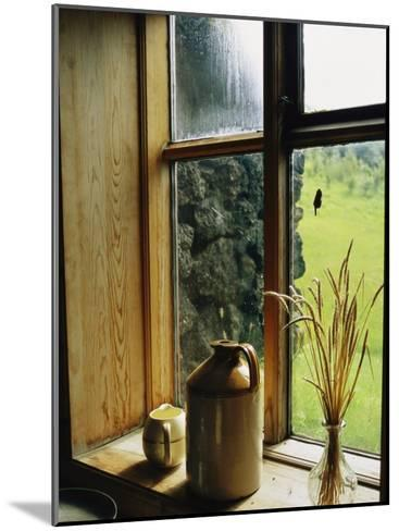Windowsill of the Skogar Folk Museum in the Southern Part of Iceland-Sisse Brimberg-Mounted Photographic Print