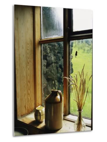 Windowsill of the Skogar Folk Museum in the Southern Part of Iceland-Sisse Brimberg-Metal Print
