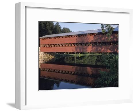 The Sachs Mill Bridge is Reflected in the Marsh River-Raymond Gehman-Framed Art Print