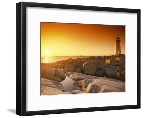 A Lighthouse at Sunset-Richard Nowitz-Framed Art Print
