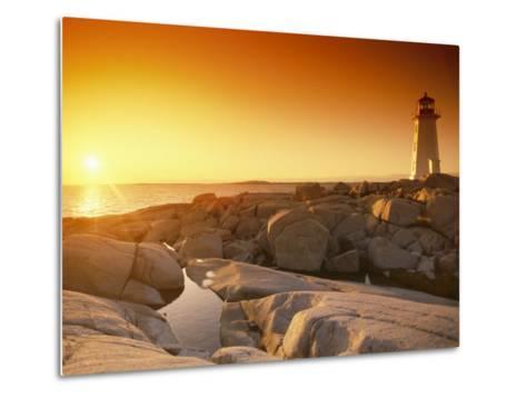 A Lighthouse at Sunset-Richard Nowitz-Metal Print