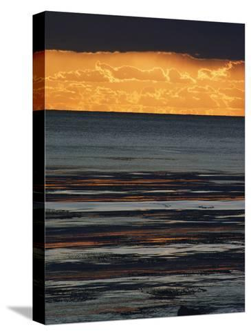 The Sun Sets over the Pacific Ocean off Shell Beach-Marc Moritsch-Stretched Canvas Print