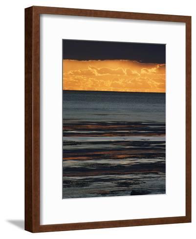 The Sun Sets over the Pacific Ocean off Shell Beach-Marc Moritsch-Framed Art Print