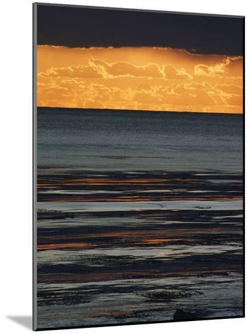 The Sun Sets over the Pacific Ocean off Shell Beach-Marc Moritsch-Mounted Photographic Print
