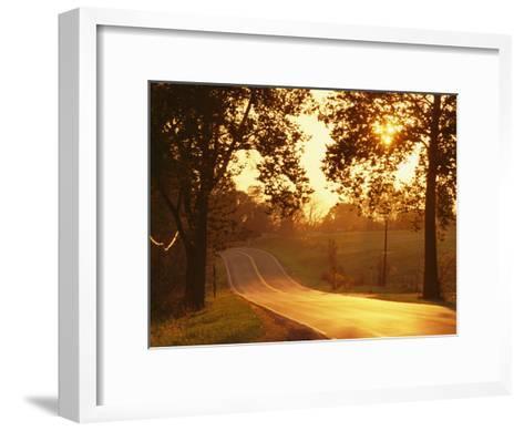 Route 11 Outside of Mt. Jackson at Twilight-Richard Nowitz-Framed Art Print