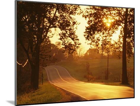 Route 11 Outside of Mt. Jackson at Twilight-Richard Nowitz-Mounted Photographic Print