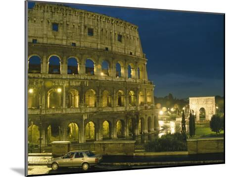 Romes Colosseum Illuminated at Night-Richard Nowitz-Mounted Photographic Print