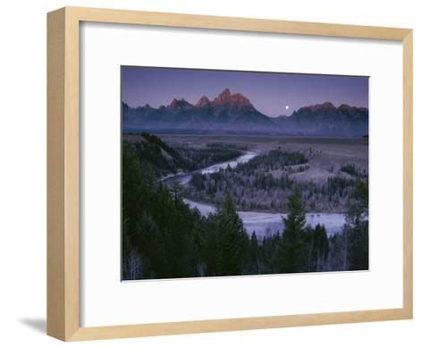 Dawn Strikes the High Ridge of the Teton Range-Raymond Gehman-Framed Art Print